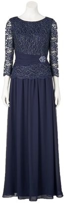 Women's Jessica Howard Metallic Lace Evening Gown $215 thestylecure.com