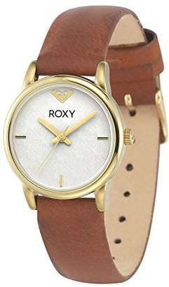 7dcb02481d Roxy Women s RX 1020WTGP The Huntington Gold-Tone and Brown Leather Strap  Watch