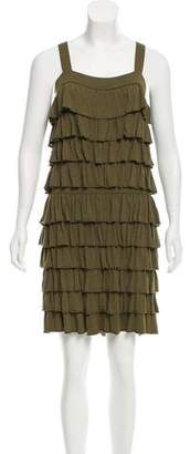 Alice + Olivia Ruffle Accented Knit Dress