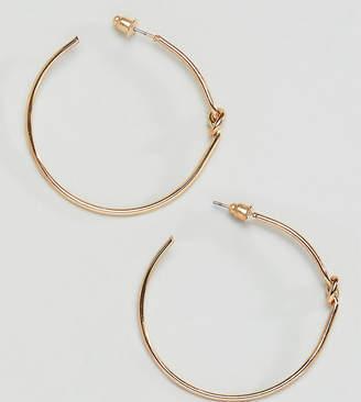 Reclaimed Vintage inspired knot hoop earrings