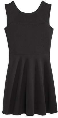 Aqua Girls' Textured Sleeveless Dress, Big Kid - 100% Exclusive