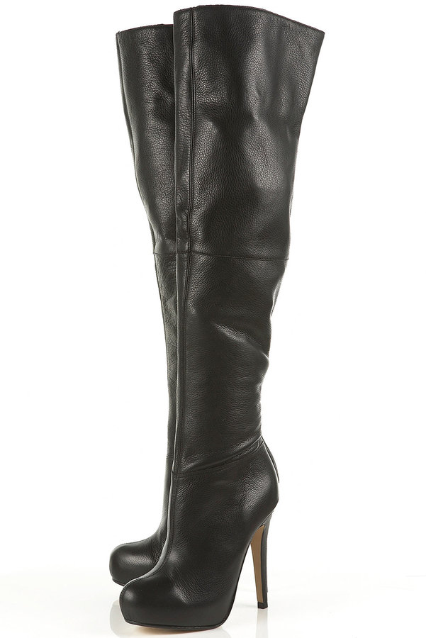 BARLEY2 Over Knee Leather Boot
