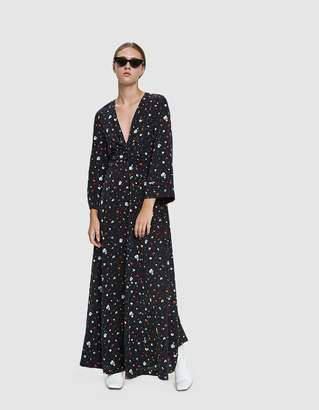 Ganni Nolana Silk Floral Maxi Dress