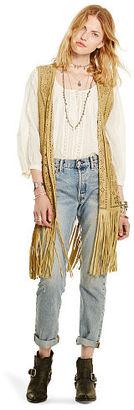 Ralph Lauren Denim & Supply Laser-Cut Suede Vest $498 thestylecure.com
