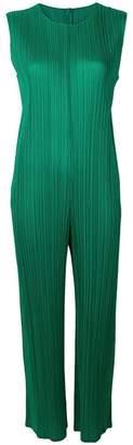 Pleats Please Issey Miyake pleated straight-cut jumpsuit