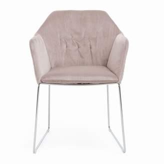SABA New York Sedia Velvet Dining Arm Chair