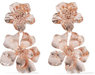 Rose Gold-plated Clip Earrings - one size