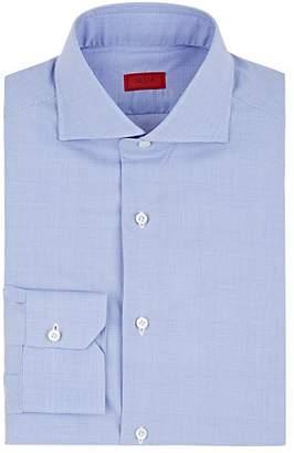 Isaia Men's Plaid Cotton Poplin Dress Shirt - Lt. Blue