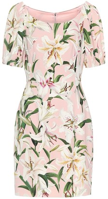 Dolce & Gabbana Floral stretch-crepe dress