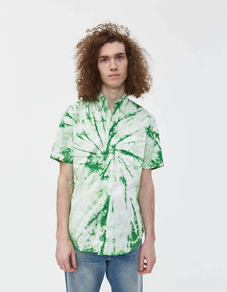 Gitman Brothers GV x Need Supply Co. Tie Dye Button Down Shirt in Green