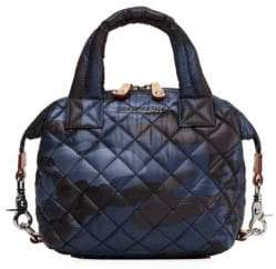 MZ Wallace Women's Micro Sutton Quilted Camouflage Satchel - Dark Blue