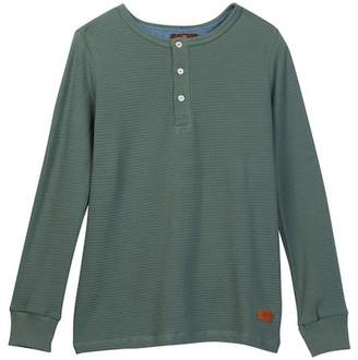 7 For All Mankind Long Sleeve Henley (Big Boys)