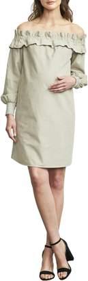 Maternal America Off the Shoulder Maternity Dress