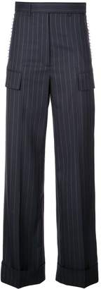 Vera Wang striped straight trousers