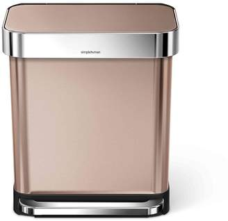Williams-Sonoma simplehuman Rectangular Step Can with Liner Pocket, Rose Gold Stainless-Steel