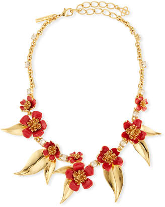 Oscar de la Renta Delicate Flowers Collar Necklace