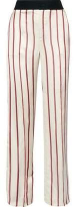 Lanvin Striped Satin-Jacquard Wide-Leg Pants