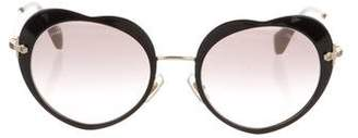 Miu Miu Heart Metal Sunglasses