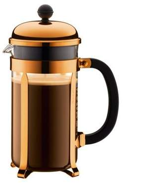 Bodum Chambord 8 Cup 1.0L Coffee Press Cafetiere, Copper