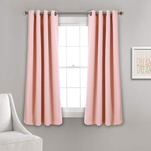 Insulated Grommet Blackout Curtain Panels Pair Set 52