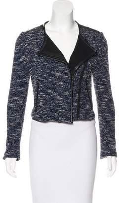 Rebecca Minkoff Tweed Leather-Trimmed Jacket