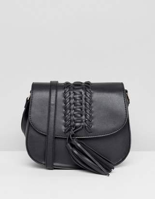 Missguided Saddle Fringe Detail Cross Body Bag