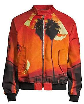 Paul Smith Men's Oversized Reversible Printed Bomber Jacket