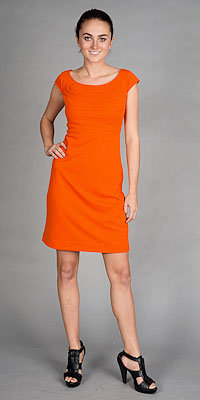 Tangerine Sheath Dresses by Muse