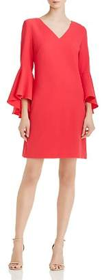 Eliza J Bell-Sleeve Crepe Dress