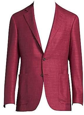 Canali Men's Regular-Fit Silk-Cashmere Blazer