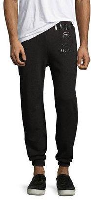 Moschino Moschino Logo Jogger Sweatpants, Black $350 thestylecure.com