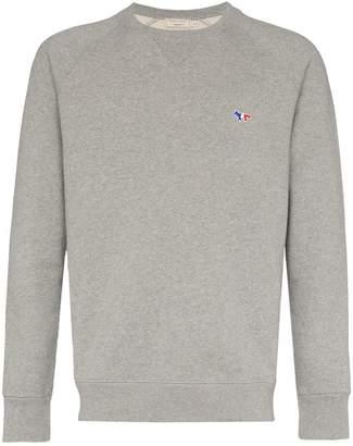 MAISON KITSUNÉ Cotton fox logo patch sweatshirt