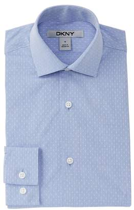 DKNY Dobby Dress Shirt (Big Boys)