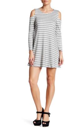 Bobeau Ribbed Long Sleeve Cold Shoulder Dress (Petite) $62 thestylecure.com