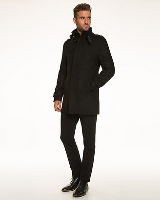Le Château Wool Blend Melton Funnel Neck Car Coat
