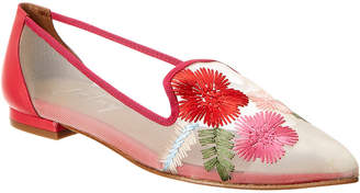 French Sole Gibson Leather & Mesh Flat