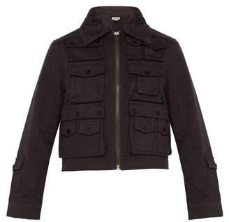 Phipps - Patch Pocket Hemp Blend Utility Jacket - Mens - Dark Brown