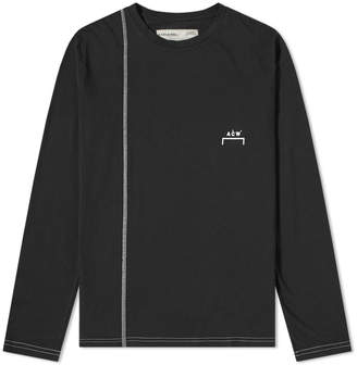 A-Cold-Wall* A Cold Wall* Long Sleeve Bracket Logo Cut Tee