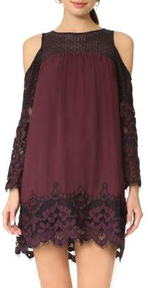 BB Dakota Two-Tone Lace Dress