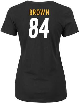 Majestic Women's Pittsburgh Steelers Antonio Brown Player Name & Number Tee