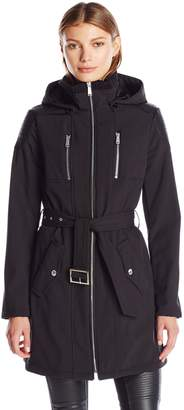 BCBGeneration Women's Softshell with Pu Detail