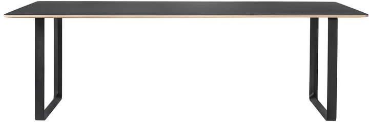 Muuto - 70/70 Esstisch 225 x 90 cm, Schwarz (Linoleum)