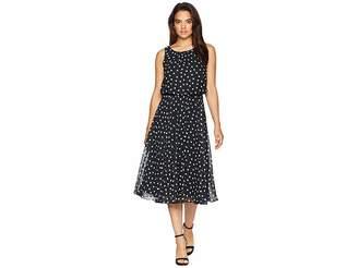 Nine West Shirred Sleeveless Blouson Dress Women's Dress