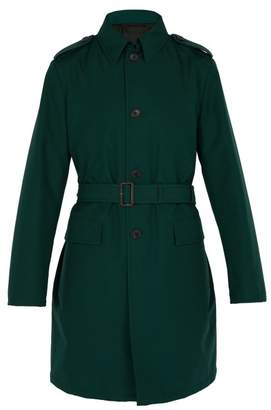 Prada Single Breasted Nylon Trench Coat - Mens - Green