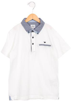 Armani JuniorArmani Junior Boys' Collared Polo Shirt w/ Tags