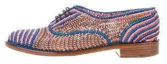 Robert Clergerie Woven Round-Toe Oxfords