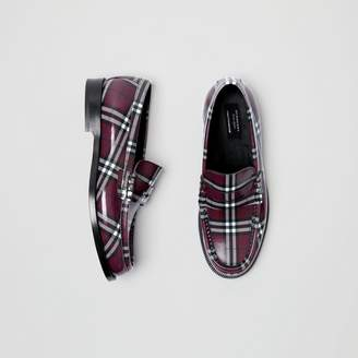 Burberry Gosha x Check Leather Loafers