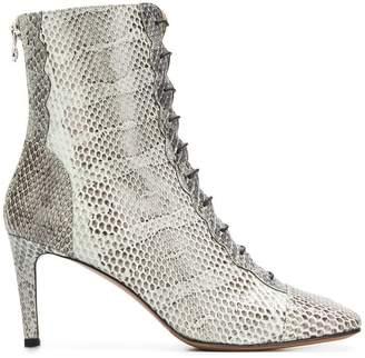 L'Autre Chose snakeskin ankle boots