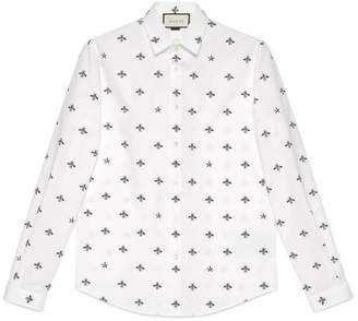 Gucci Bee star cotton Duke shirt