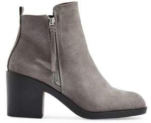 Topshop Brittney Zip Block Heel Booties